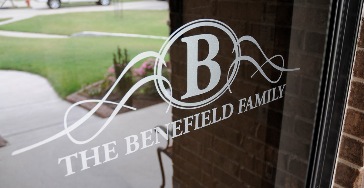 The Benefield Family Etched Glass