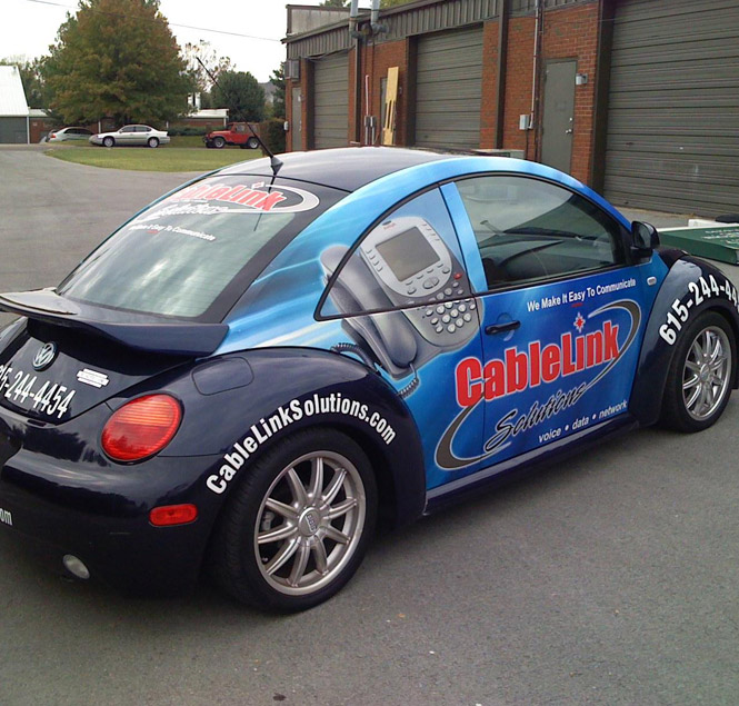 VW Beetle vehicle wrap
